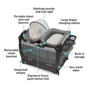 Graco Pack 'n Play Playard Snuggle Suite LX Bassinet Changer – Abbington
