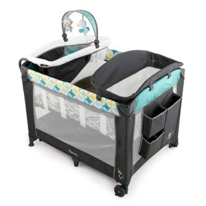 Ingenuity Smart and Simple Packable Portable Playard with Changing Table - Moreland