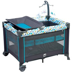 Kidsry Portable Playard,Sturdy Play Yard with Comfortable Mattress and Changing Station