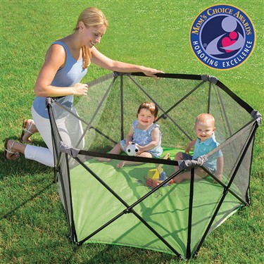 Summer Pop 'n Play Portable Playard, Green – Lightweight Play Pen for Indoor and Outdoor Use – Portable Playard with Fast, Easy and Compact Fold