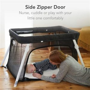 Lotus Baby Crib with zipper